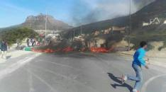hangberg protest helen flames