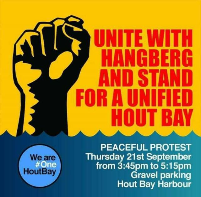 hangberg peace protest
